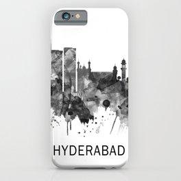 Hyderabad Telangana Skyline BW iPhone Case