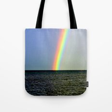 Pot of gold over the Bay Tote Bag
