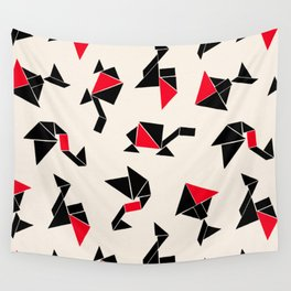 Tangram Animals Wall Tapestry