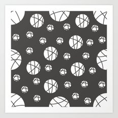 Broken Orbs (WhiteOnGray) Art Print