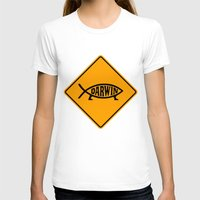 darwin T-shirts featuring Darwin Fish Road Sign by Max Headroom