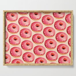 Strawberry Donut Pattern Serving Tray