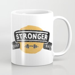 Stronger Every Day (dumbbell) Coffee Mug