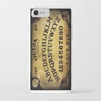 ouija iPhone & iPod Cases featuring Ouija Board by Lostfog Co.