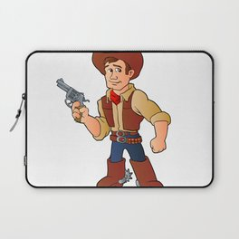 cowboy with revolver Laptop Sleeve