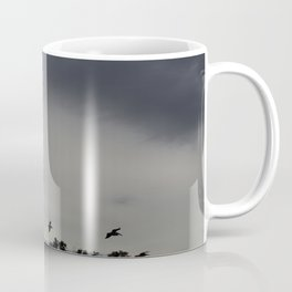 Pelicans Coming In For Night Coffee Mug