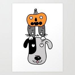 Halloween totem Art Print