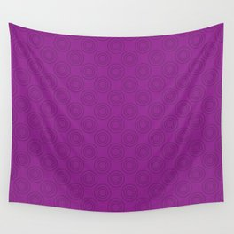 Seamless pattern with rings on purple Wall Tapestry