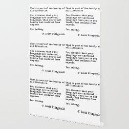 The beauty of all literature - F Scott Fitzgerald Wallpaper