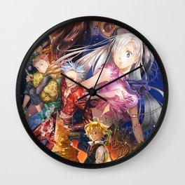 Meliodas Ban King Diane Elizabeth Liones Hawk Wall Clock
