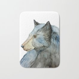 Watercolor Bear Illustration Bath Mat