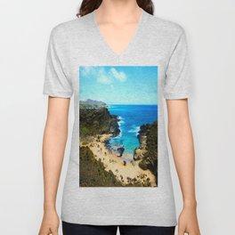 Halona Cove V ... By LadyShalene Unisex V-Neck
