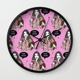 Festive Cheers Darling Wall Clock
