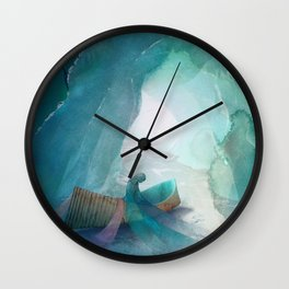When Ice Becomes Silk Wall Clock