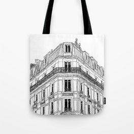 Parisian Facade Tote Bag