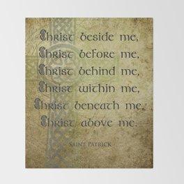Christ Before Me ~ St. Patrick Throw Blanket