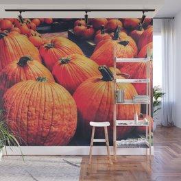 Pumpkins on a Pallet Wall Mural
