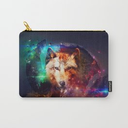 Colorfulface wolf  Carry-All Pouch