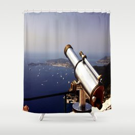 On top of the world in Eze! Shower Curtain