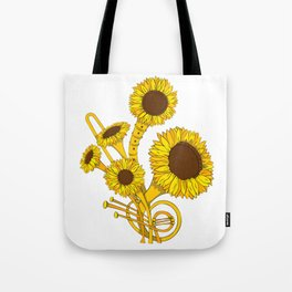 Sunflower Orchestra Tote Bag