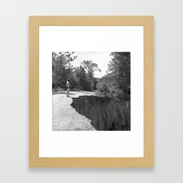 Broken roads Framed Art Print
