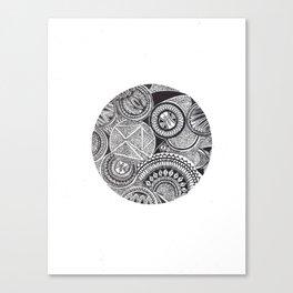 Full Mandala Moon Canvas Print