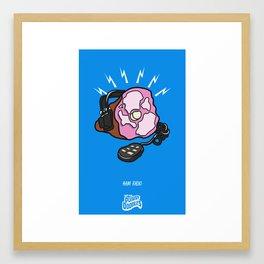 Punny Doodle-Ham Radio Framed Art Print