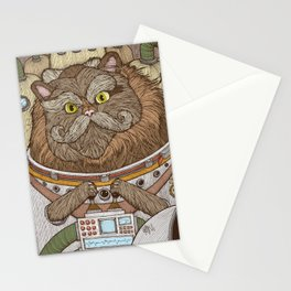 Commander Whiskers Stationery Cards