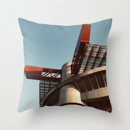 Architecture photography, San Siro Stadium, italian Serie A, sport building, stadio Giuseppe Meazza, sports Throw Pillow
