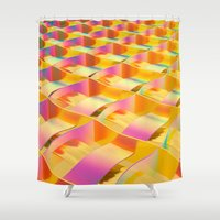 hologram Shower Curtains featuring RAINBOW PAPER SERIES 03 by MACHINEAST