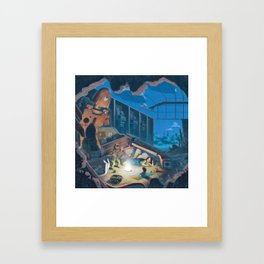 The Scary Story Framed Art Print