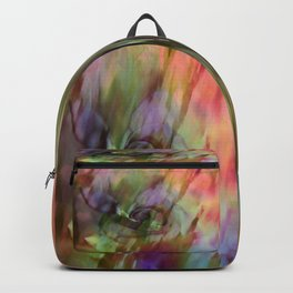Rainbow Rose Floral Abstract Backpack