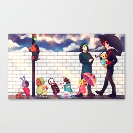 When it rains - Markiplier + Jacksepticeye Canvas Print