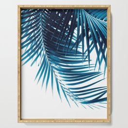 Palm Leaves Blue Vibes #1 #tropical #decor #art #society6 Serving Tray