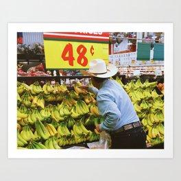 Banana Cowboy Art Print