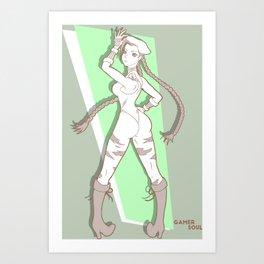 Gamer Soul Fighter Line - Cammy Art Print