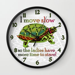 Pimpin' Turtle Knot Wall Clock