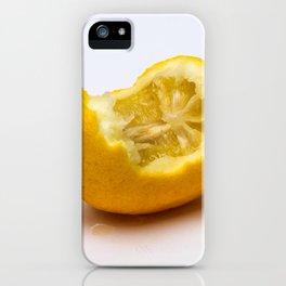 Keep smiling. Half eaten lemon iPhone Case