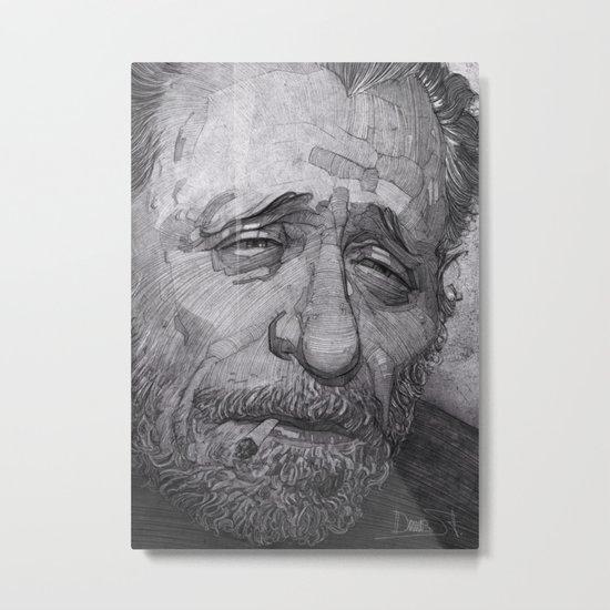 Charles Bukowski illustration portrait Metal Print