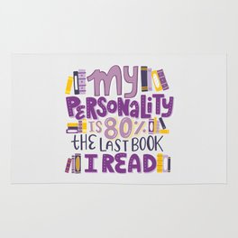 Book Nerd Personality Rug