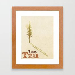 Lao Tzu - Quoted Framed Art Print