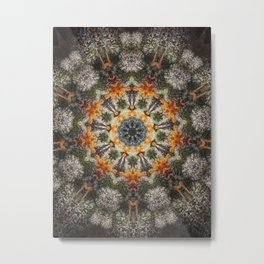 Trichomes Tangerine Metal Print
