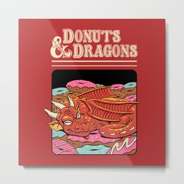 Donuts and Dragons Metal Print