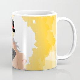 Beautiful cabaret girl with background Coffee Mug