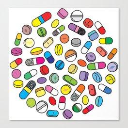 Drugs N Pills Canvas Print