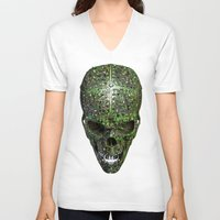 data V-neck T-shirts featuring Bad data by GrandeDuc