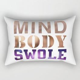 Mind, Body, & Swole Rectangular Pillow