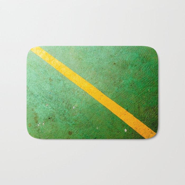 Diagonal Yellow Line Bath Mat