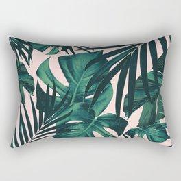 Tropical Jungle Leaves Pattern #5 #tropical #decor #art #society6 Rectangular Pillow