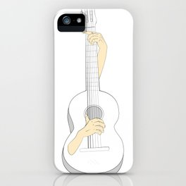 Self playing guitar iPhone Case